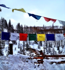 Prayer Flags at Strawberry Park Hot Springs
