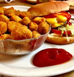 Cheeseburger and Okra