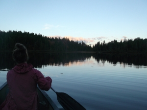 Canoe Ride at Dusk in Maine