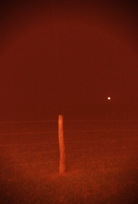 Fence & Full Moon in Yoakum, Texas