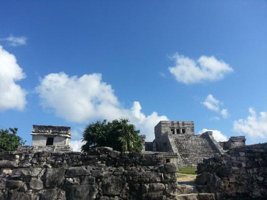 mayan ruins in tulum mexico beach camping on the yucatan peninsula mexico