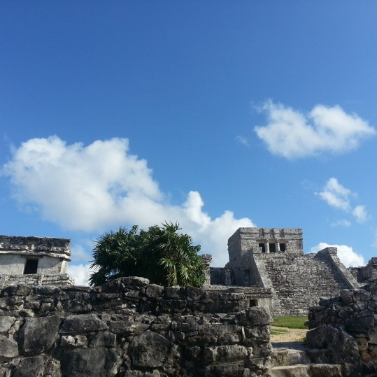 mayan ruins in tulum mexico beach camping on the yucatan peninsula mexico