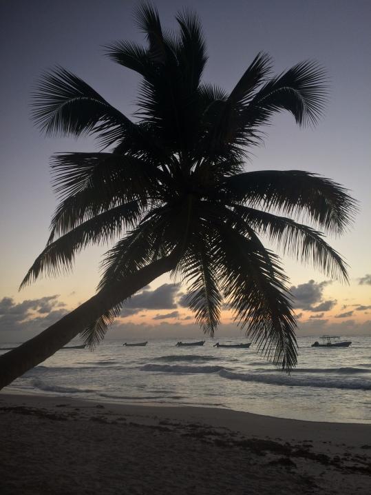 beach sunset in tulum mexico beach camping in yucatan peninsula