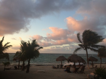 beach sunrise in paamul mexico beach camping in yucatan peninsula