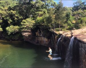 Jumping off a clip in Australia