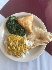 Food at Mt. Everest Cafe