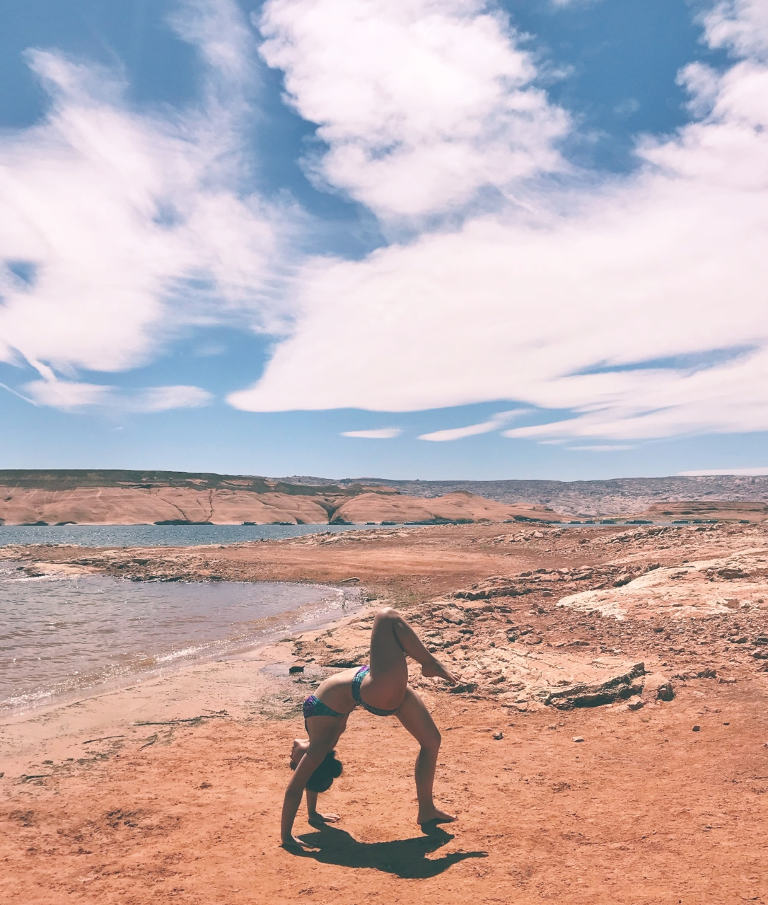 lake powell beach yoga