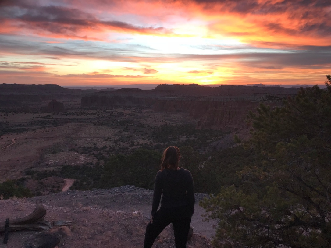 viewing sunrise in capitol reef np, utah