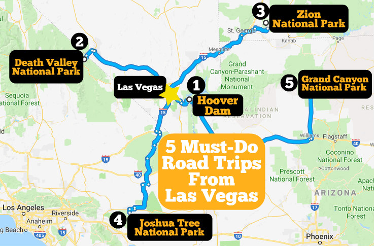 5 road trips from Las Vegas